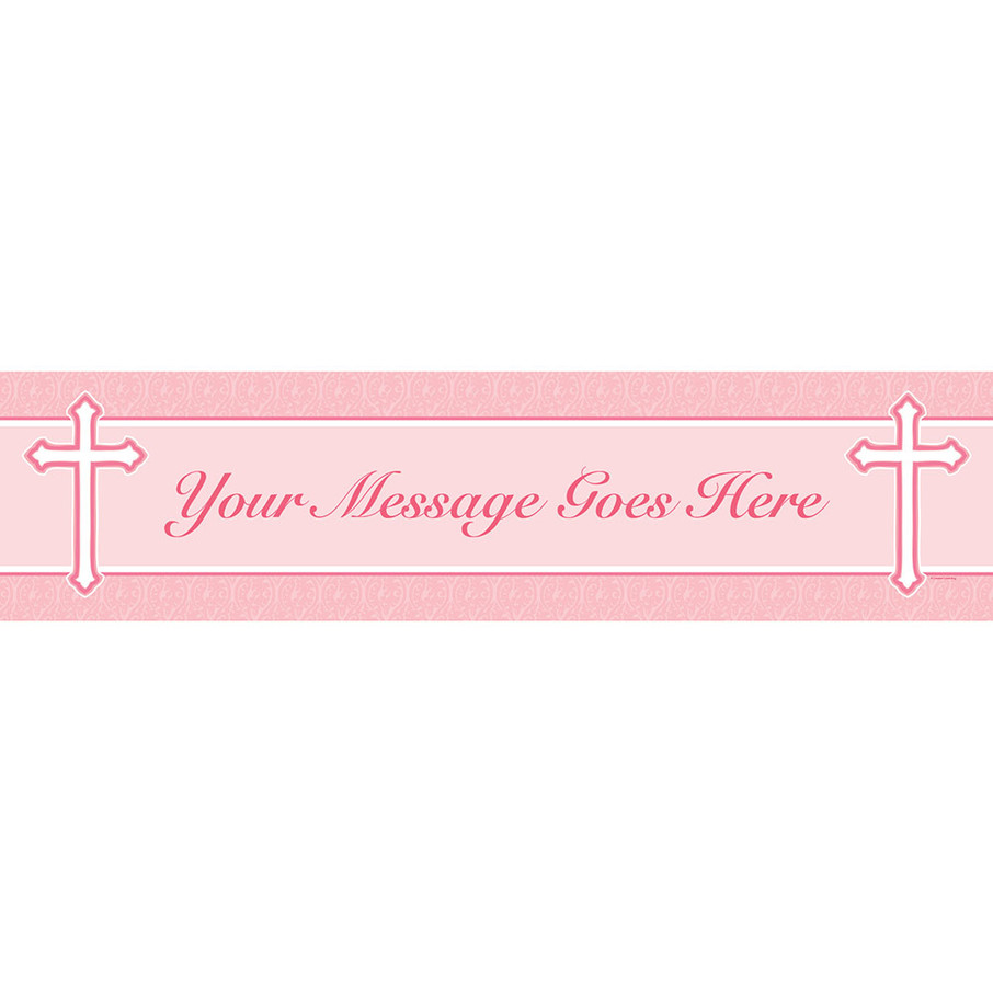 View larger image of Faith Pink Personalized Banner (Each)