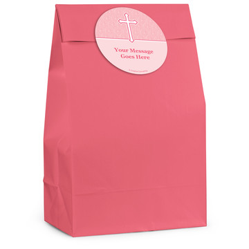 Faith Pink Personalized Favor Bag (12 Pack)