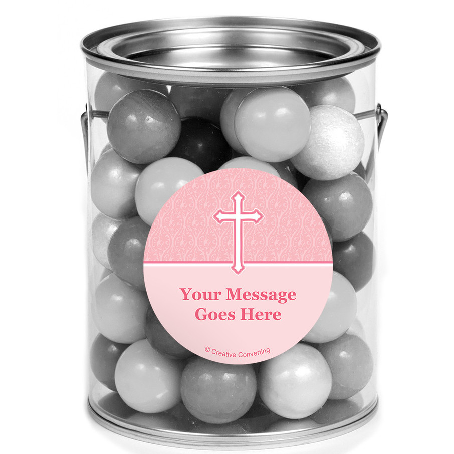 View larger image of Faith Pink Personalized Mini Paint Cans (12 Count)