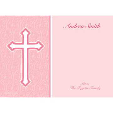 Faith Pink Personalized Thank You (Each)