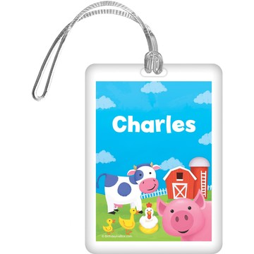 Farm Animals Personalized Bag Tag (each)