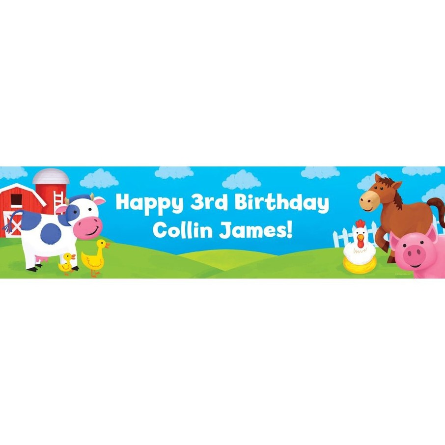 View larger image of Farm Animals Personalized Banner (each)