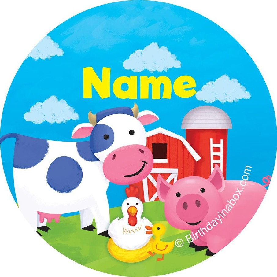 View larger image of Farm Animals Personalized Mini Stickers (Sheet of 24)
