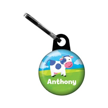 Farm Animals Personalized Mini Zipper Pull (each)