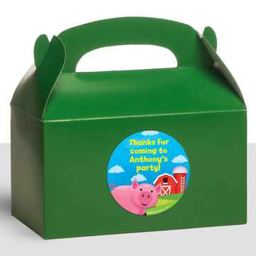 Farm Animals Personalized Treat Favor Boxes (12 Count)