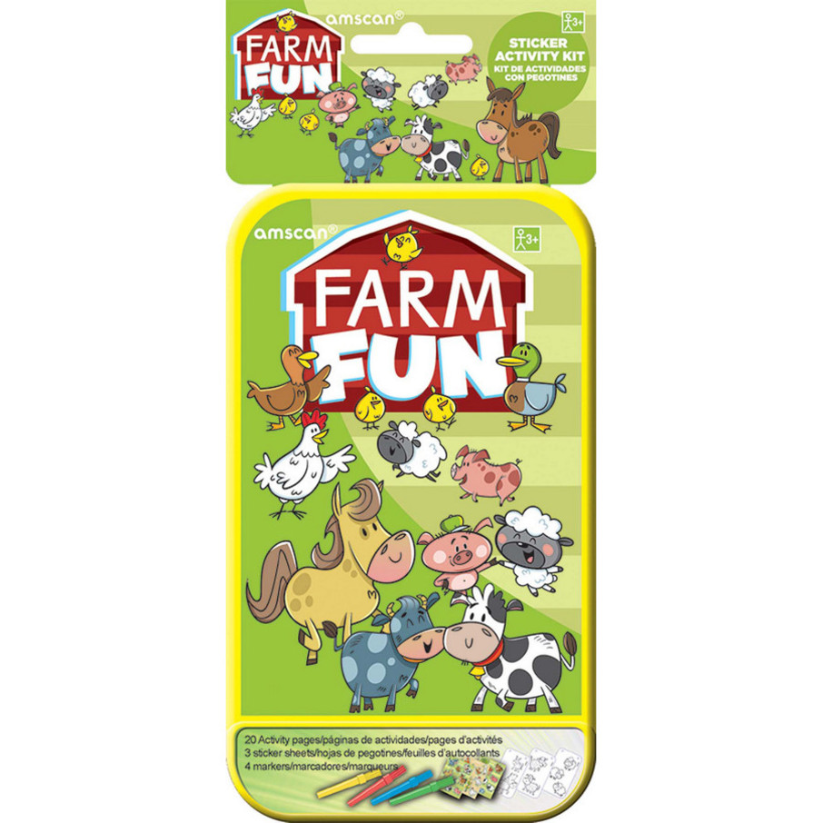 View larger image of Farm Animals Sticker Activity Box