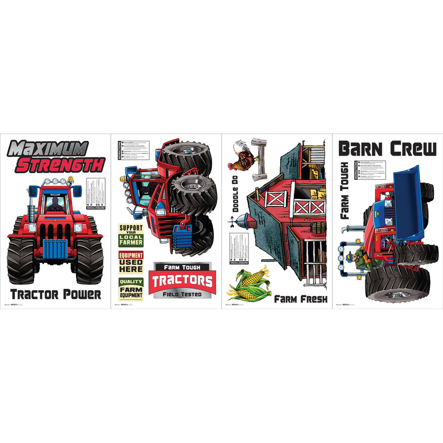 View larger image of Farm Tractor Small Wall Decal