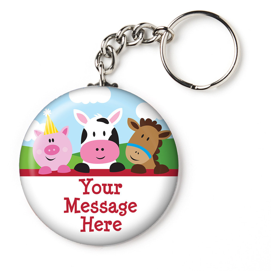 """View larger image of Farmhouse Fun Personalized 2.25"""" Key Chain (Each)"""