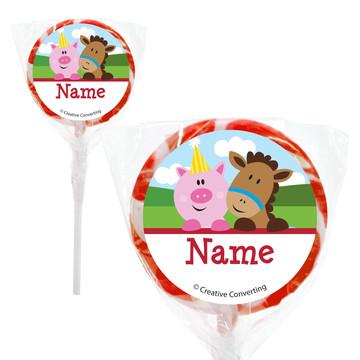 "Farmhouse Fun Personalized 2"" Lollipops (20 Pack)"