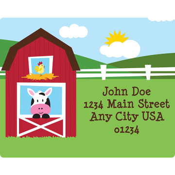 Farmhouse Fun Personalized Address Labels (Sheet of 15)