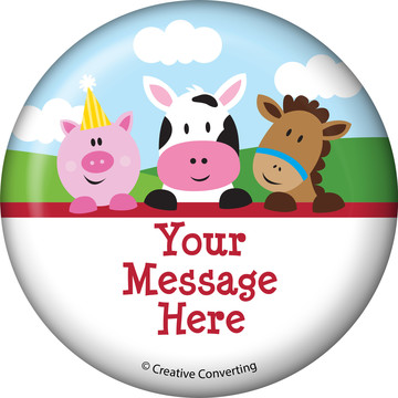 Farmhouse Fun Personalized Button (Each)