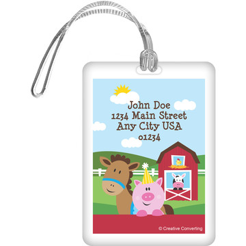 Farmhouse Fun Personalized Luggage Tag (Each)