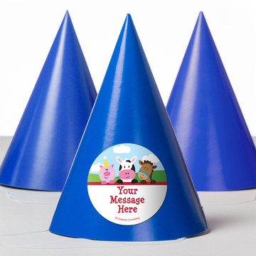 Farmhouse Fun Personalized Party Hats (8 Count)