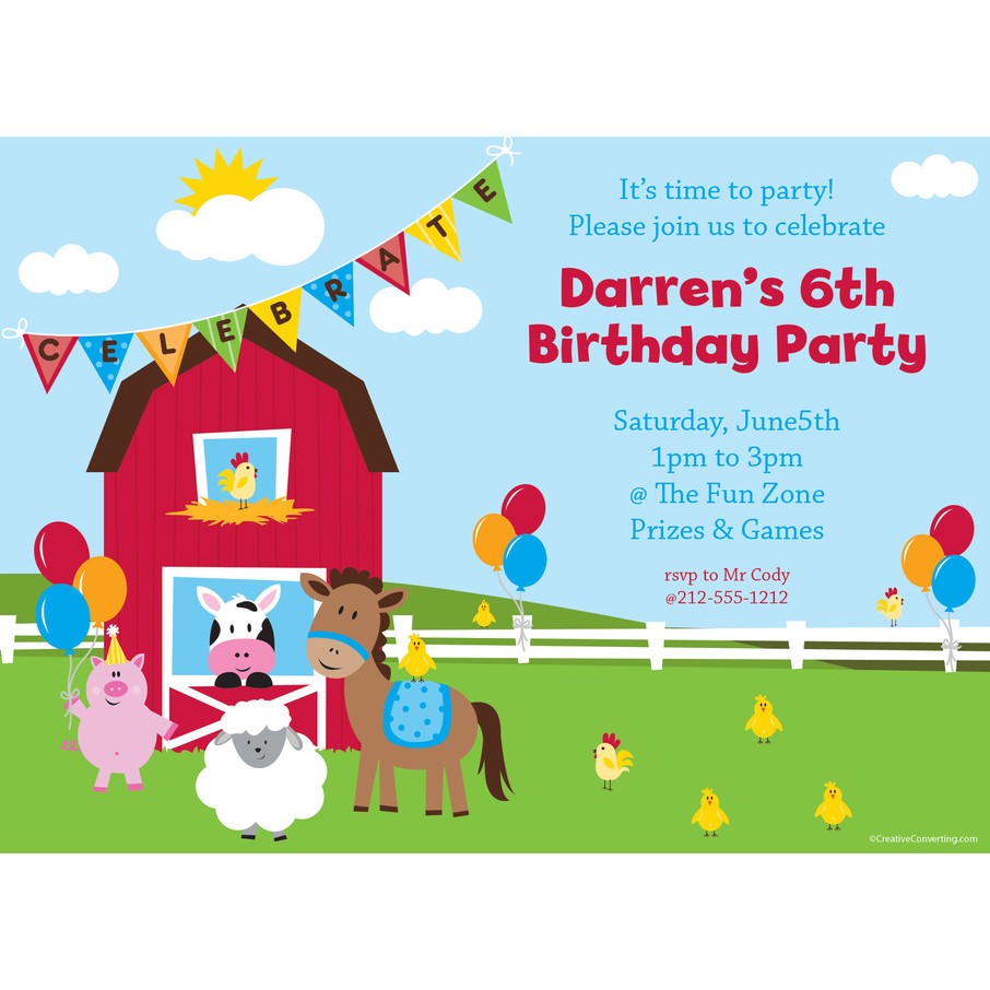 View larger image of Farmhouse Fun Personalized Invitation (Each)