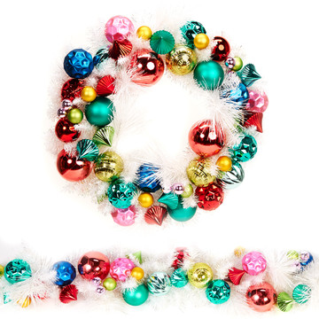 Fashion Bright Wreath Garland Set