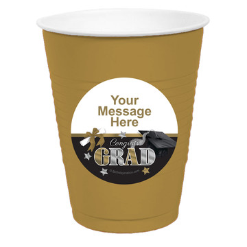 Festive Graduation Personalized Party Cups, 50ct