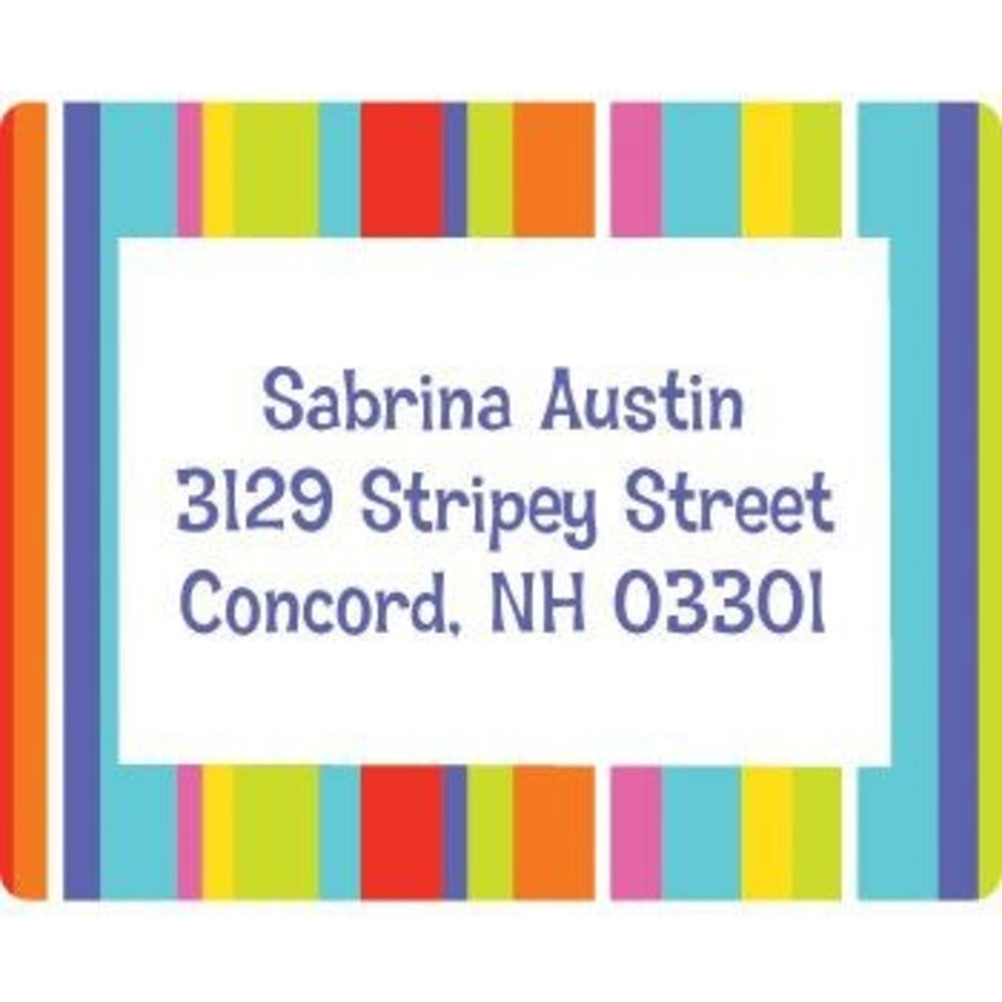 View larger image of Festive Stripes Personalized Address Labels (sheet of 15)