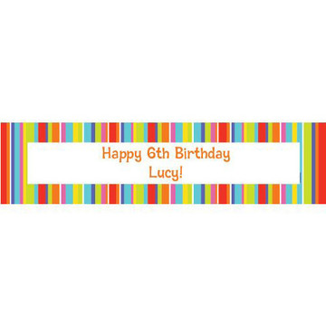 Festive Stripes Personalized Banner (each)