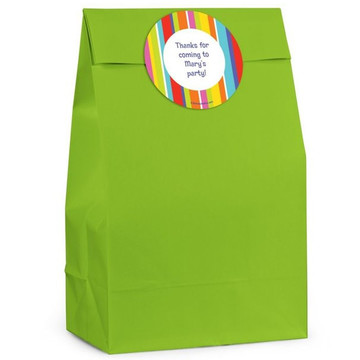 Festive Stripes Personalized Favor Bag (Set Of 12)