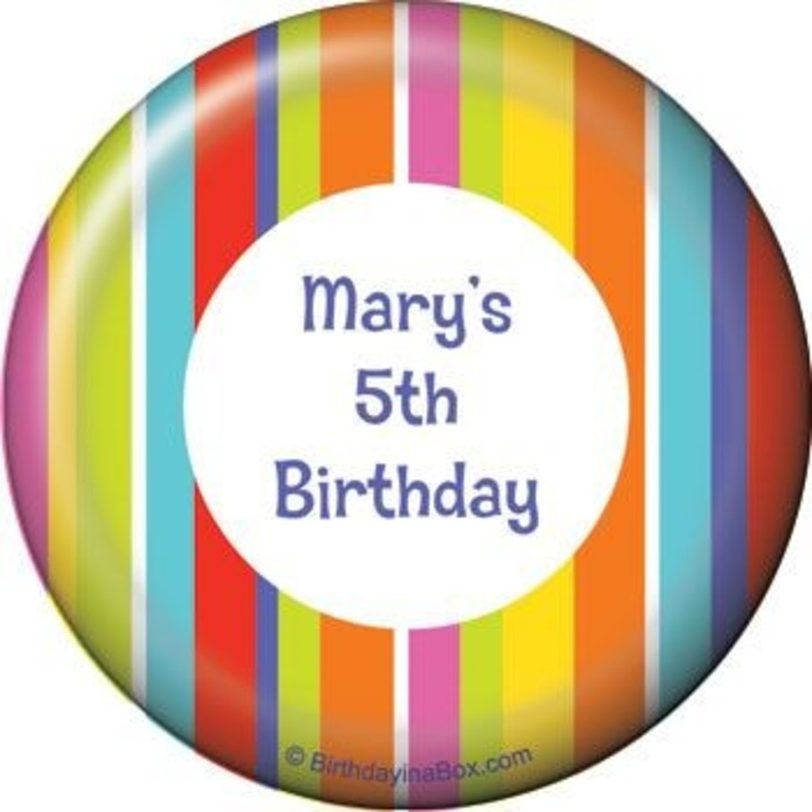View larger image of Festive Stripes Personalized Magnet (each)