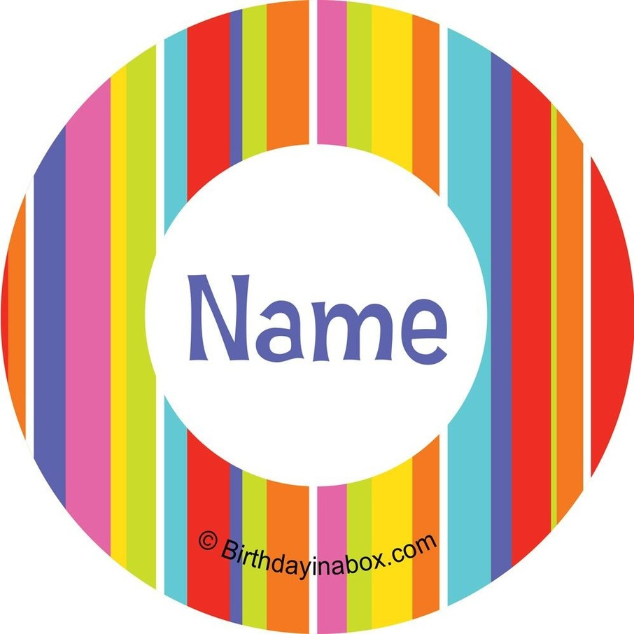View larger image of Festive Stripes Personalized Mini Stickers (Sheet of 24)