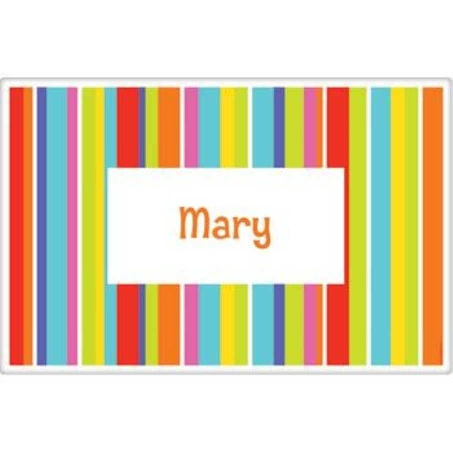 View larger image of Festive Stripes Personalized Placemat (each)