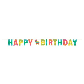 "Fiesta Fun 96"" x 6"" Happy Birthday Banner"