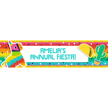 Fiesta Fun Personalized Banner, Each