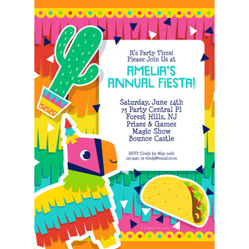 Fiesta Fun Personalized Invitation, Each