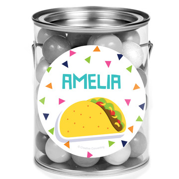 Fiesta Fun Personalized Mini Paint Cans, 12ct