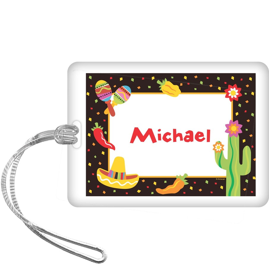 View larger image of Fiesta Party Personalized Bag Tag (each)