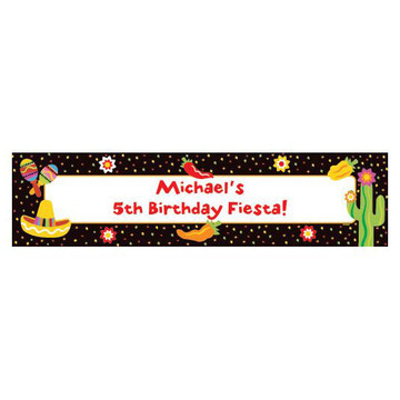 Fiesta Party Personalized Banner (each)
