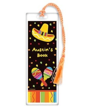 Fiesta Party Personalized Bookmark (each)
