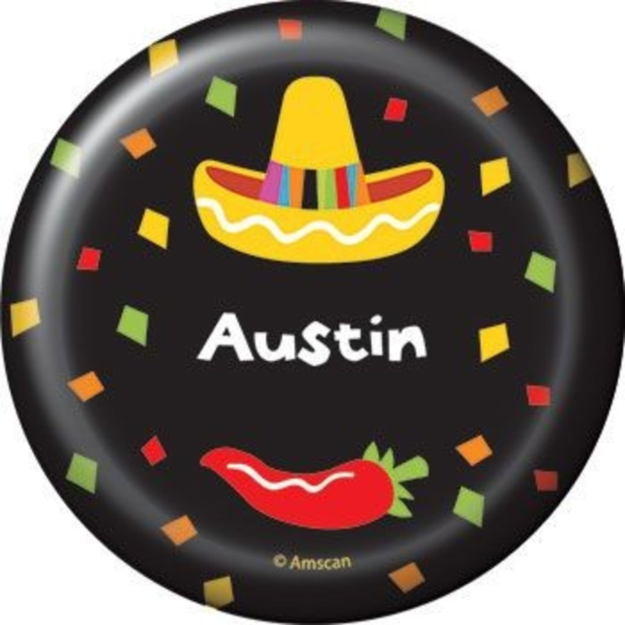 View larger image of Fiesta Party Personalized Button (each)