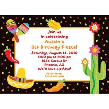 Fiesta Party Personalized Invitation (each)