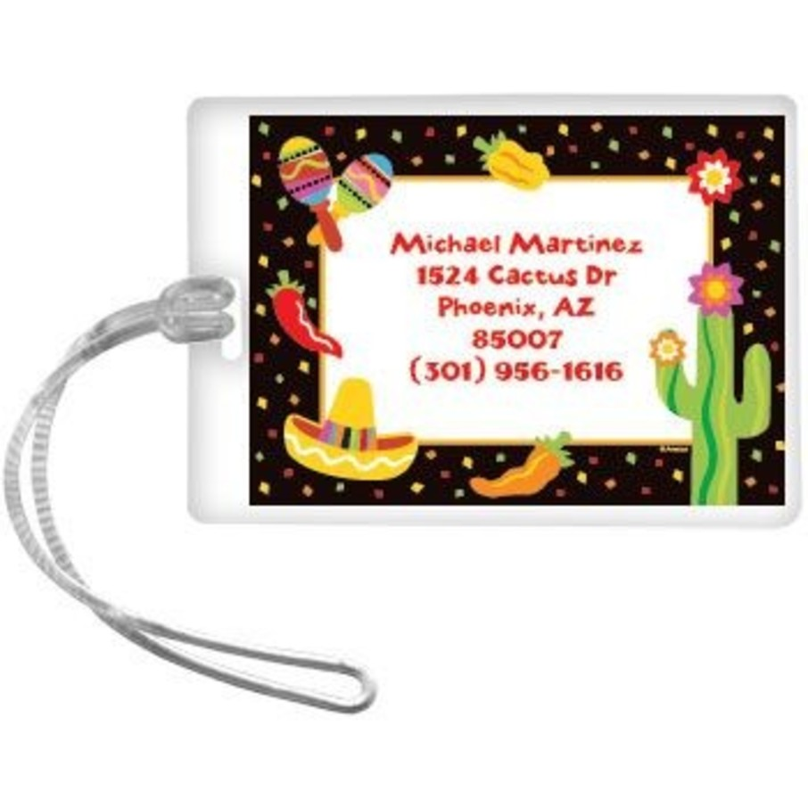View larger image of Fiesta Party Personalized Luggage Tag (each)