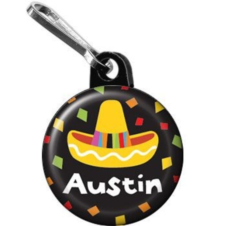 View larger image of Fiesta Party Personalized Mini Zipper Pull (each)