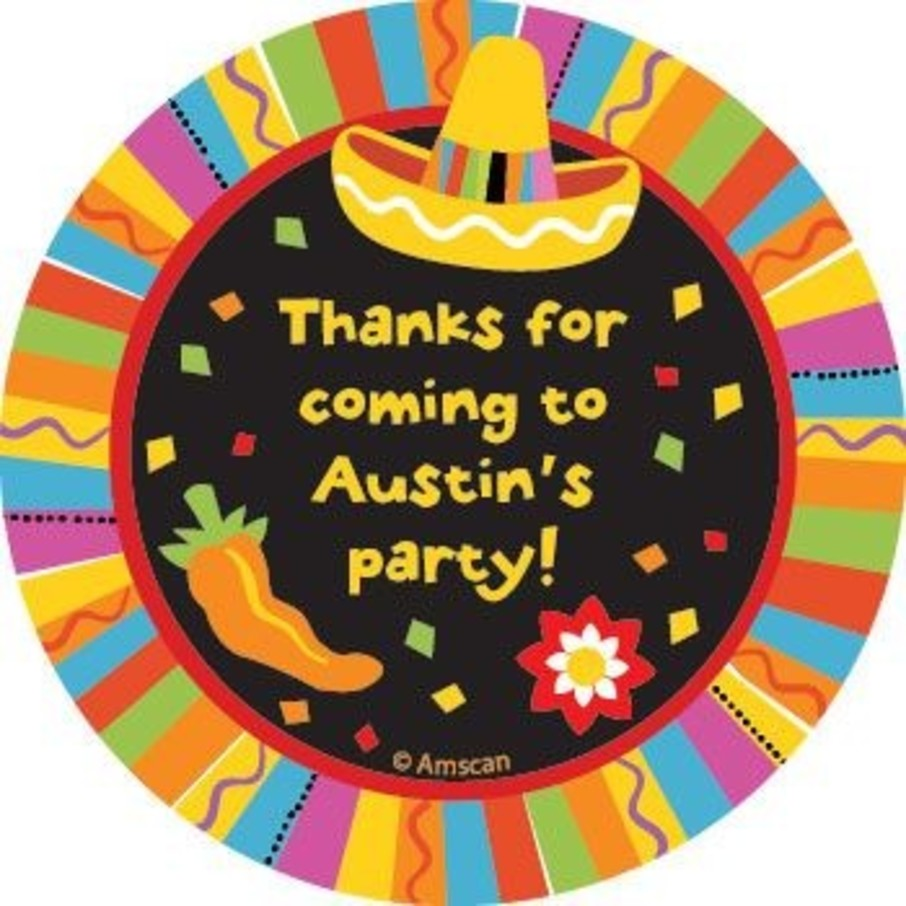 View larger image of Fiesta Party Personalized Stickers (sheet of 12)