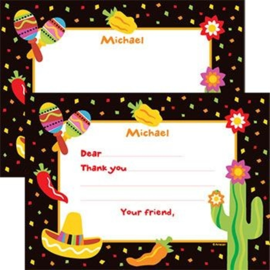 View larger image of Fiesta Party Personalized Thank You Note (each)