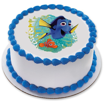 "Finding Dory 7.5"" Round Edible Cake Topper (Each)"