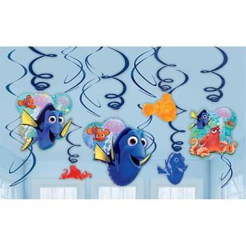 Finding Dory Swirl Decorations (12 Pieces)