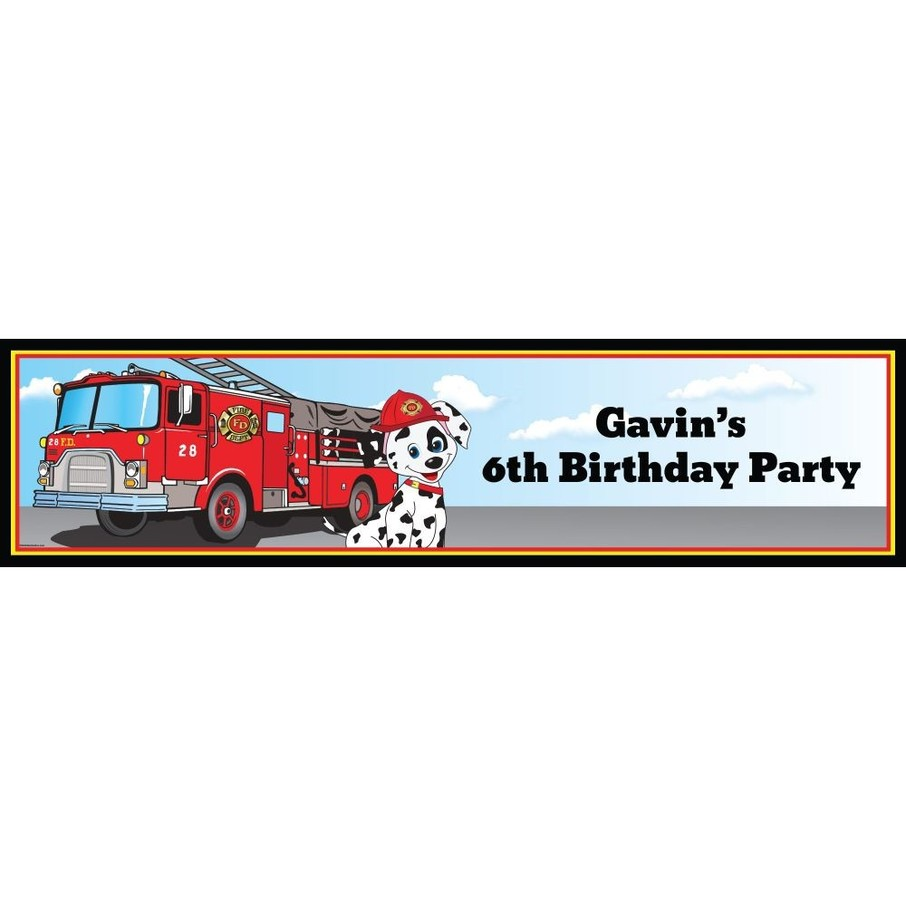 View larger image of Fire Truck Personalized Banner (Each)