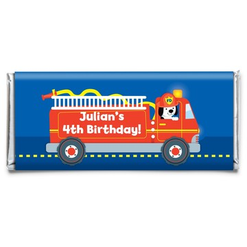 Firefighter Personalized Candy Bar Wrapper (each)