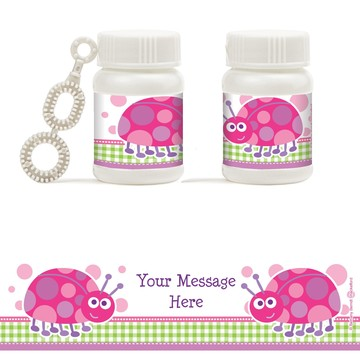 First Birthday Ladybug Personalized Bubbles (18 Pack)
