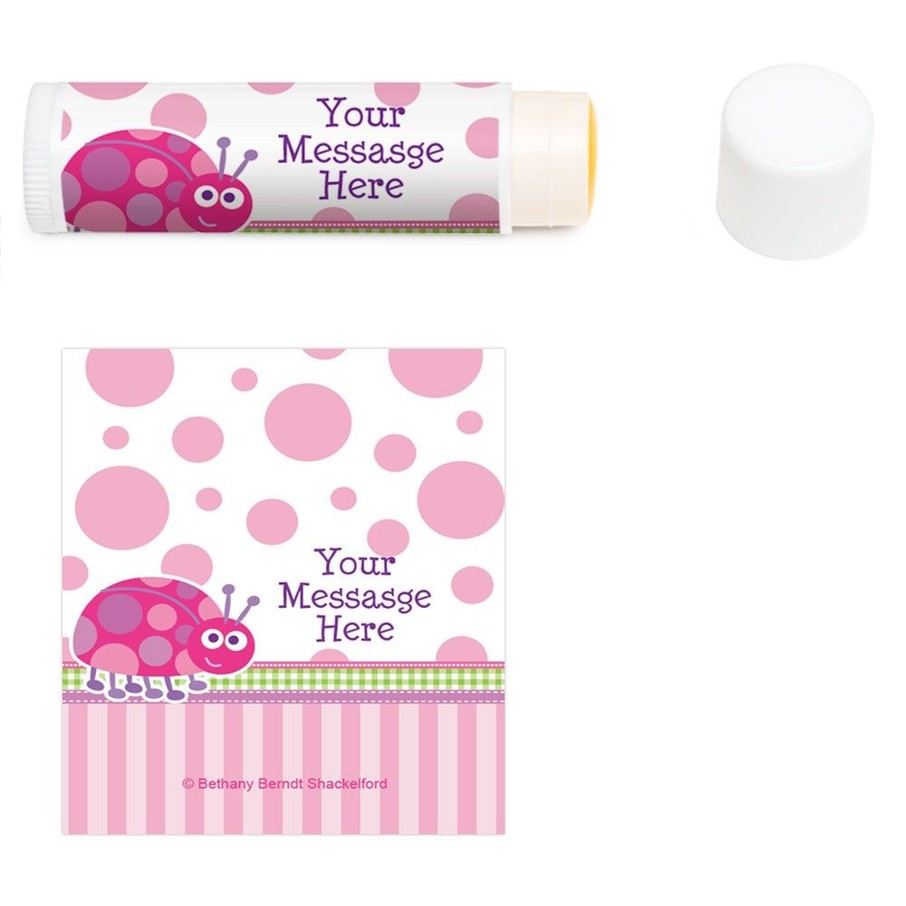 View larger image of First Birthday Ladybug Personalized Lip Balm (12 Pack)