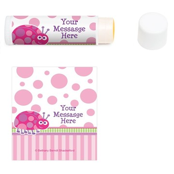 First Birthday Ladybug Personalized Lip Balm (12 Pack)