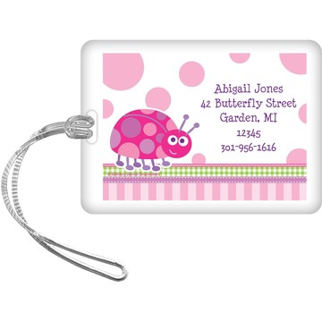 First Birthday Ladybug Personalized Luggage Tag (each)