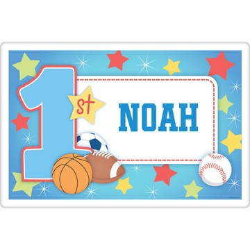 First Birthday Sport Star Personalized Placemat (each)