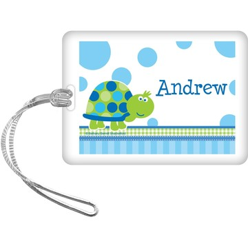 First Birthday Turtle Personalized Bag Tag (each)
