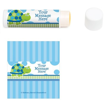 First Birthday Turtle Personalized Lip Balm (12 Pack)